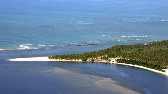 Praia do gunga, localizada na região metropolitana de Maceió.