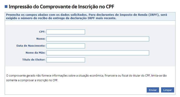 emitir 2 via do cpf online