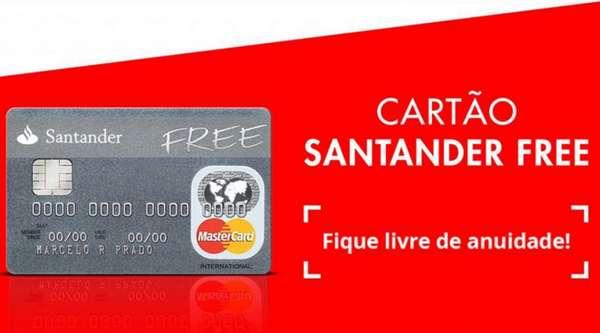 Fatura do cartão Santander Free pela internet