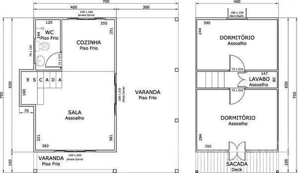 Planta essencial para quem deseja construir kitchenettes de 2 pisos
