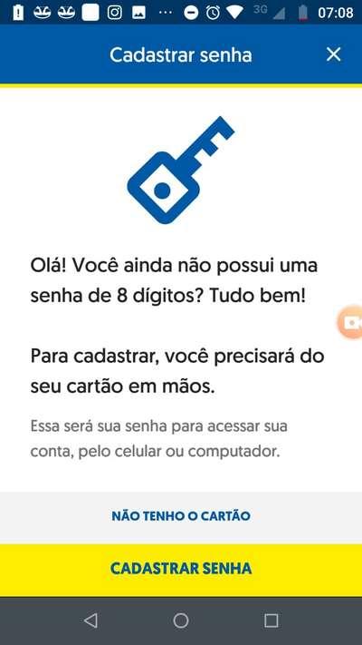 cadastrar senha de 8 digitos banco do brasil