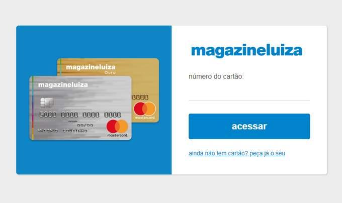 Acessar fatura cartão magazine luiza