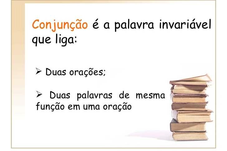 conjunção portugues classificação