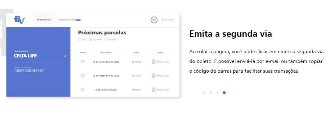 SEGUNDA VIA DO BOLETO BV FINANCEIRA