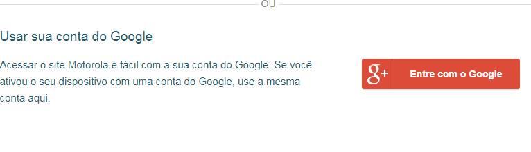 entrar site da motorola com o google